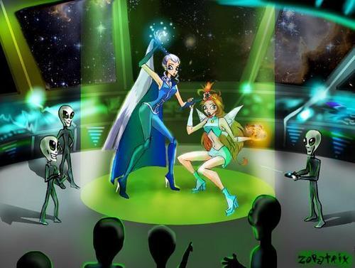 winx vs w.i.t.c.h karatasi la kupamba ukuta titled aliens!!!s.o.s!!