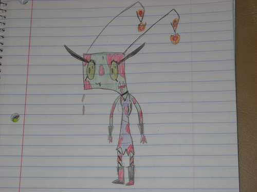 """Invader Zim FanCharacters wallpaper called claires """"accidental"""" blood splattering"""