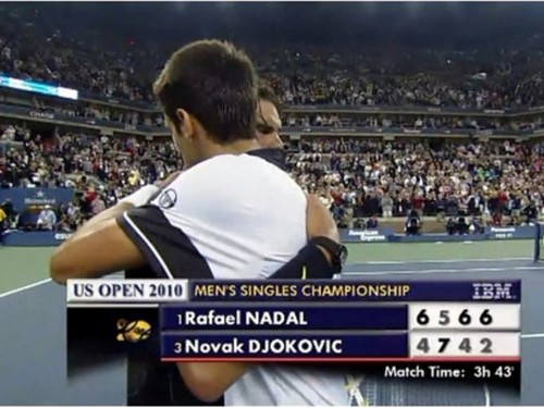 Novak Djokovic wallpaper called djokovic nadal embrace...