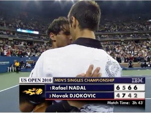 Novak Djokovic wallpaper entitled embrace nadal
