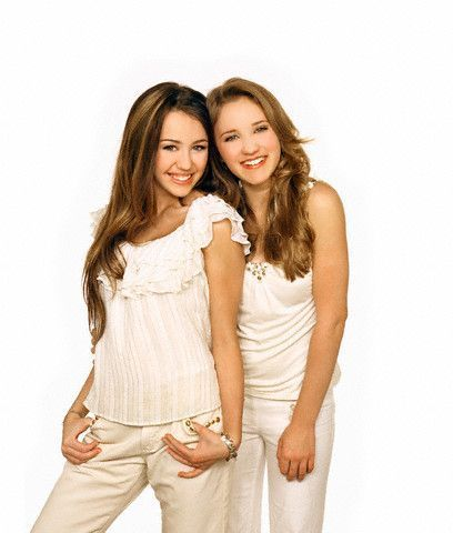 hannah montana wallpapers by susey - Miley Cyrus and Emily 408x480
