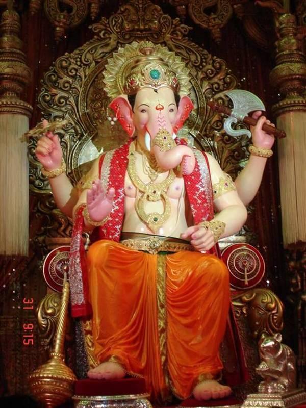 lalbaugcha raja (= king of lalbaug) ganesha in mumbai