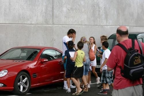 rafa,children and his red car !