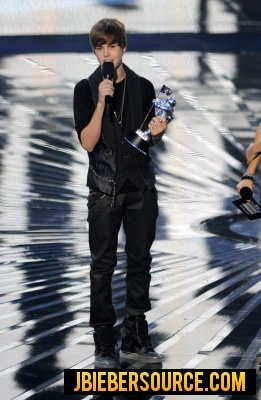 recieving VMA Award