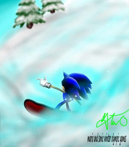 sonic snowboardin