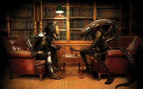 aléatoire fond d'écran containing a lire room titled ALIEN VS. PREDATOR
