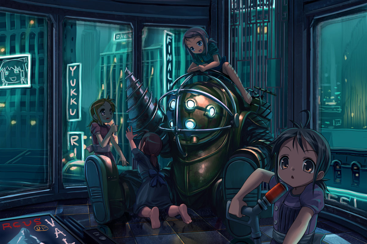 Big Daddy BioShock Little Sister