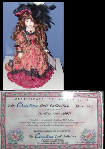 Christina Verdi Melissa Doll-Ltd. Edition of Fine porcellana, in porcellana Dolls, 2002
