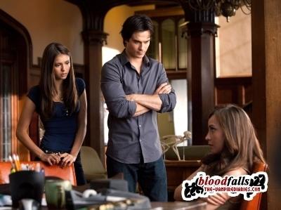 Damon, Elena, Alaric, Vanessa and Tyler