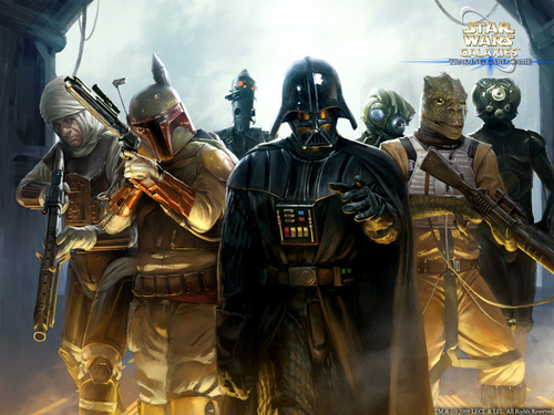 Darth Vader & Bounty Hunters