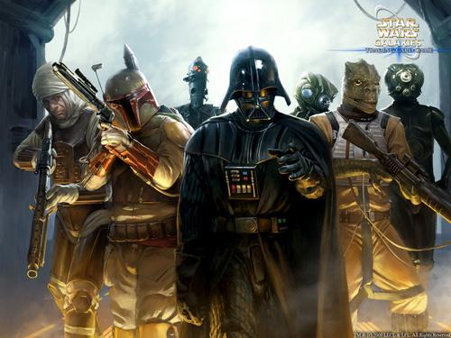Darth Vader & Bounty Hunters