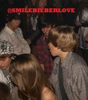 Exclusive: Justin dancing with a girl [like Caitlin]