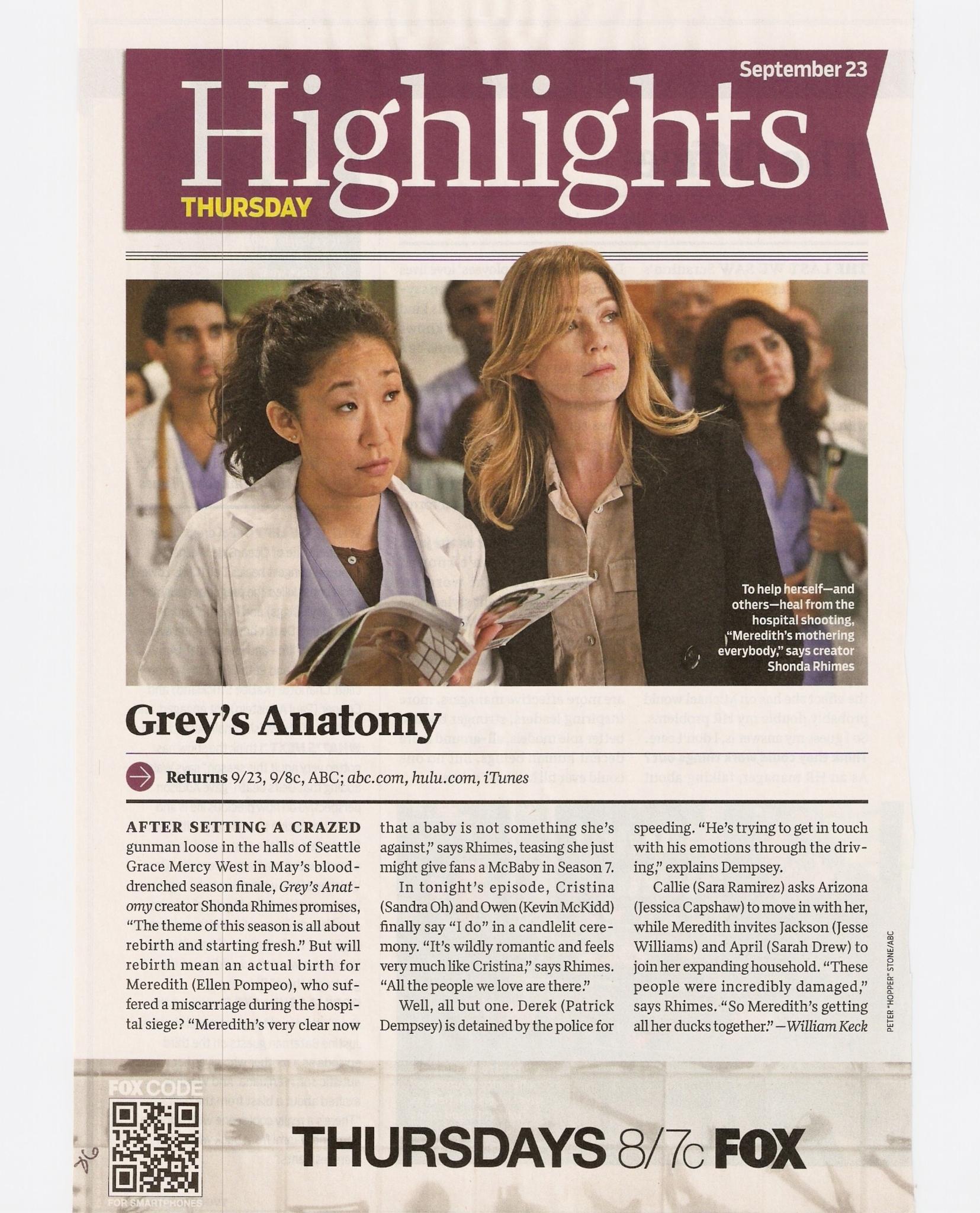 Tv Guide Greys Anatomy