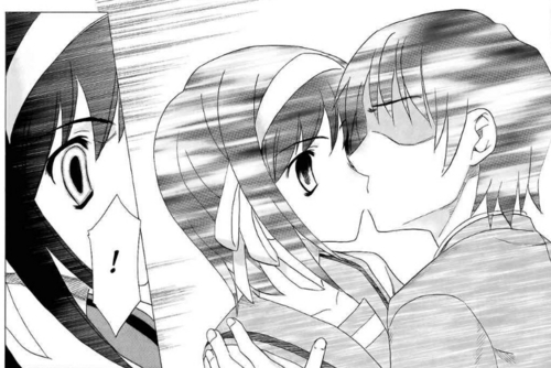 Haruhi and Kyon *Spolier*