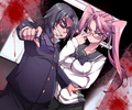 Hirano and Saya - highschool-of-the-dead photo