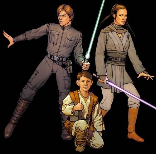 Jacen, Jania, & Anakin Solo