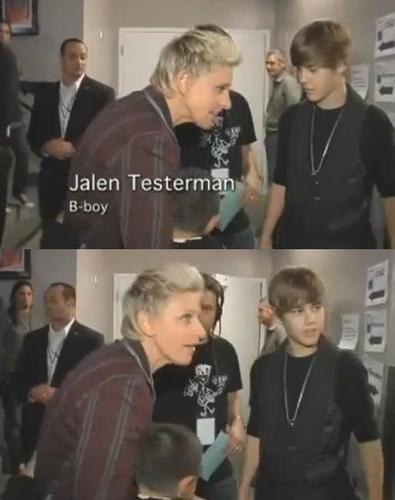 Jalen Testerman & Ellen DeGeneres