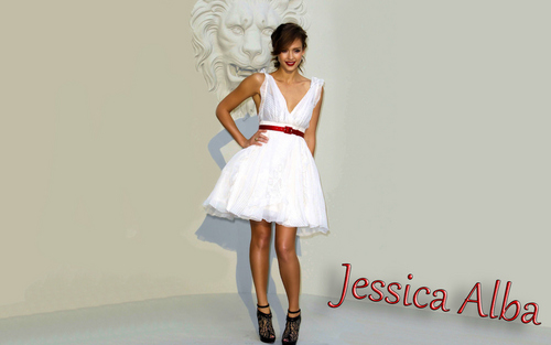 jessica alba wallpaper possibly containing a koktil, koktail dress, a gown, and a dress called Jessica Alba