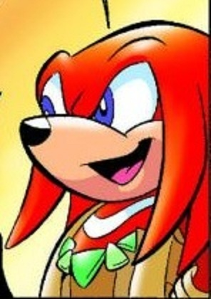 Knuckles in a tribal outfit! WOO!