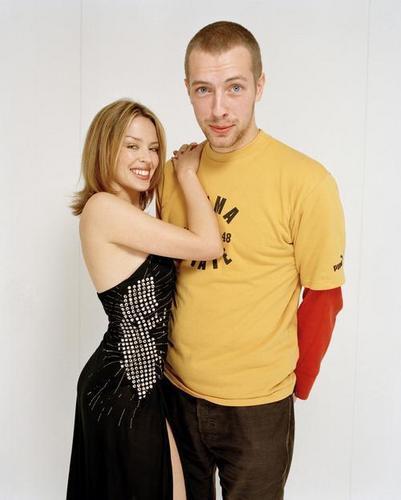 Kylie Minogue and Chris Martin of 酷玩乐队