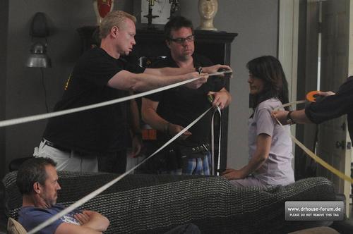 Lisa behind the scenes of season 7