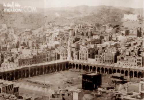 Islam wallpaper containing a business district entitled MAKKAH in the past