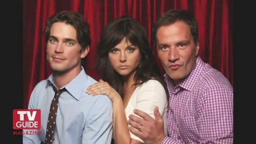 White Collar wallpaper possibly containing a portrait entitled Matt, Tim & Tiffani