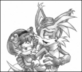 Miles Prower and Mina Mongoose - sonic-couples fan art
