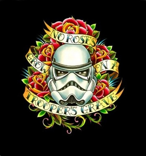 No rosas Grow On A Troopers Grave