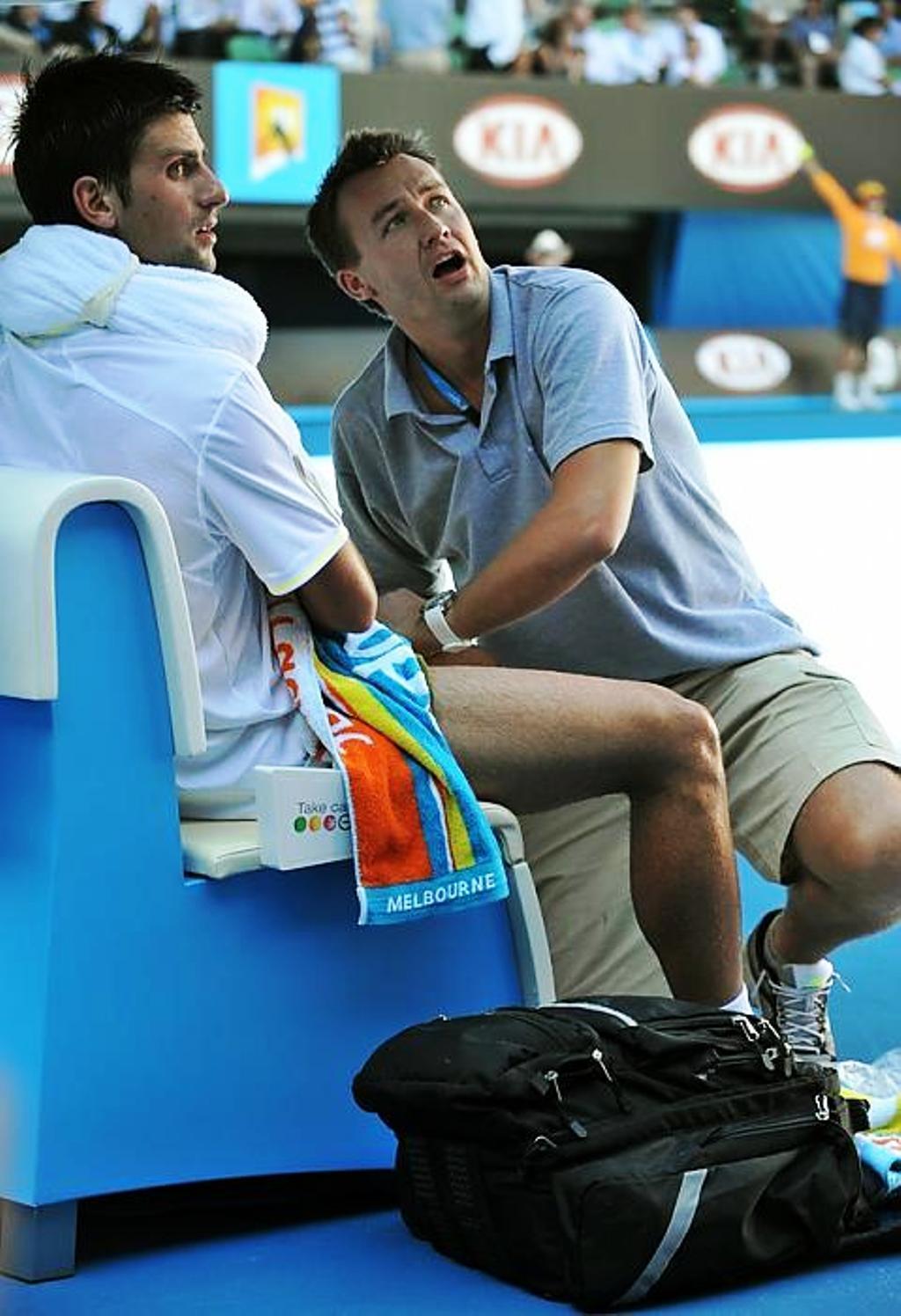 Novak Djokovic and Michal Novotny