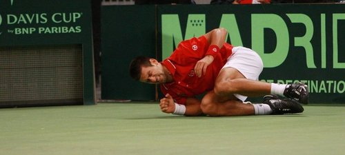 Novak Djokovic has played an injury!
