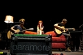 Josh, Hayley and Taylor soundchecking on the big red couch - paramore photo