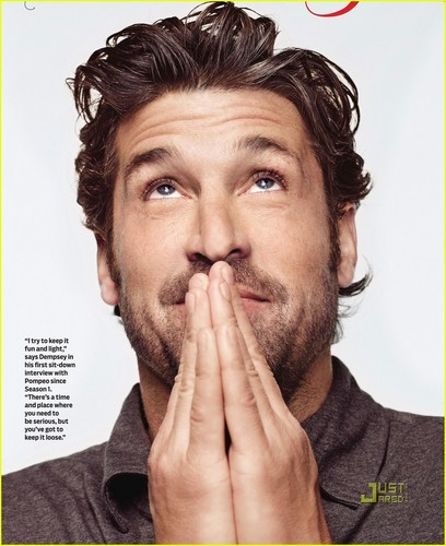 Grey's Anatomy پیپر وال titled Patrick Dempsey & Ellen Pompeo on TV Guide