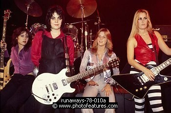 Runaways 1978 Laurie McAllister, Joan Jett, Sandy West, Lita Ford