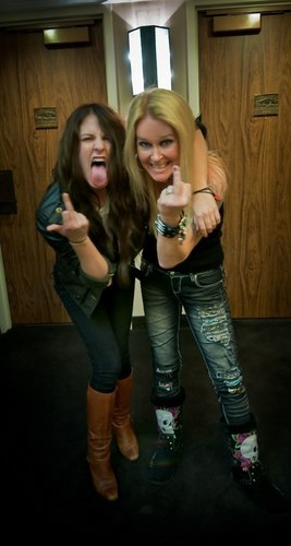 Scout-Taylor Compton and Lita Ford - the-runaways-movie Photo
