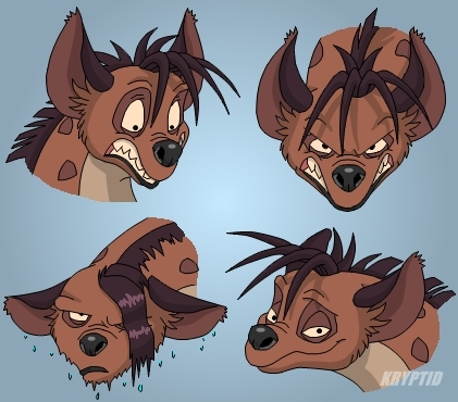 Hyenas from Lion King 壁纸 containing 日本动漫 titled Shenzi expressions