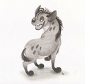 Shenzi sketch - hyenas-from-lion-king fan art