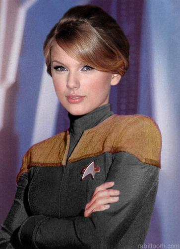 Du hành giữa các vì sao hình nền called Starfleet Cadet : Taylor nhanh, swift