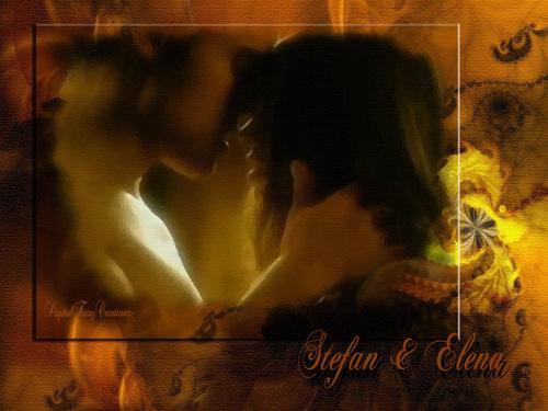 Stefan and Elena پیپر وال