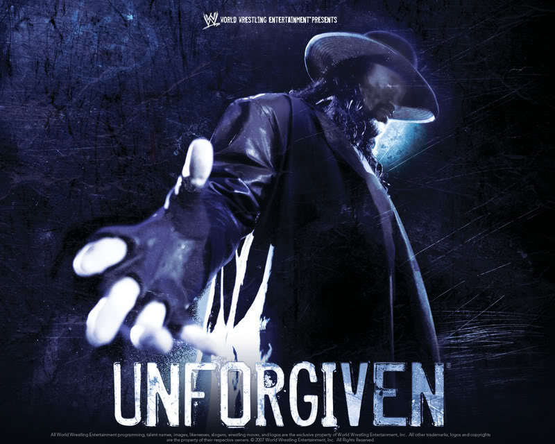 Unforgiven Poster undertaker 2007 undertaker
