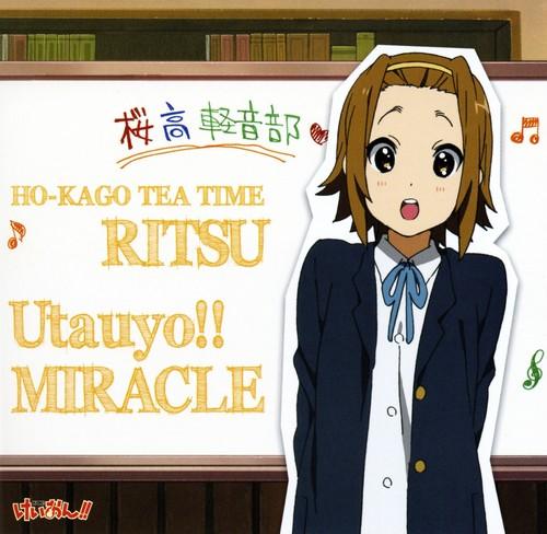 Tainaka Ritsu wallpaper probably with anime entitled Utauyo!!MIRACLE Ritsu