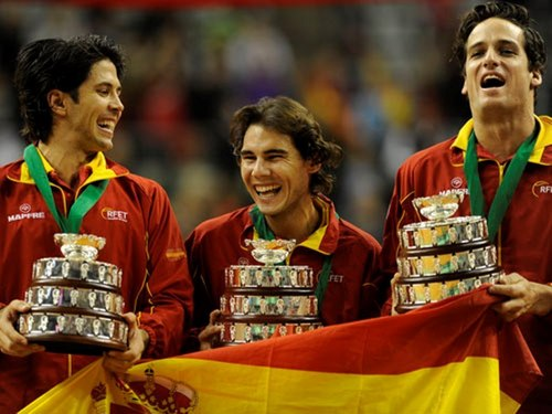 Verdasco,Nadal and Lopez - rafael-nadal Wallpaper