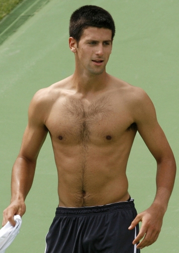 Novak Djokovic wallpaper possibly with a hunk and a six pack called bulge shirtless