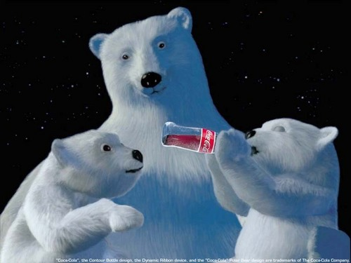 coke and the polor bear