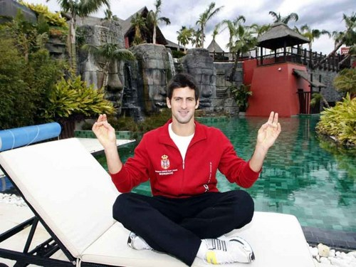 Novak Djokovic پیپر وال entitled djokovic meditation