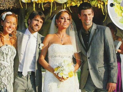 Novak Djokovic wallpaper with a bridesmaid entitled djokovic wedding