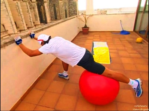 fitness with Rafa Nadal !!