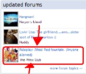girls look! ONE OF OUR Foren WAS ON THE UPDATED Foren ON THE HOMEPAGE OF FANPOP!