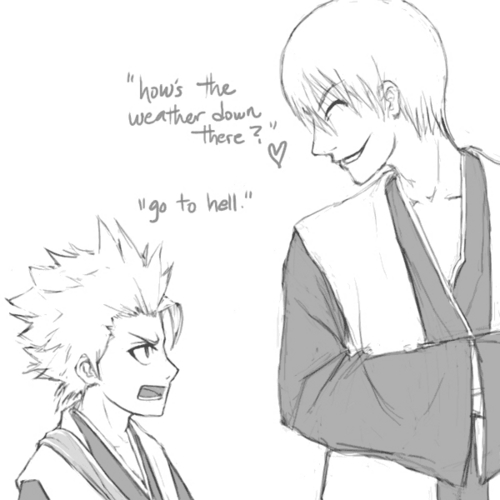 hitsugaya and जिन