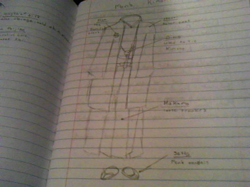 i drew a man कीमोनो, किमोनो